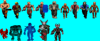 classic styled doom monsters (by Me, showcased).png